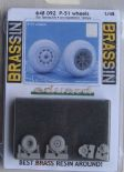 ED648092 1/48 North-American P-51D Mustang wheels